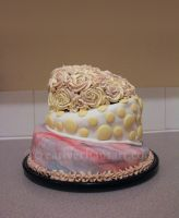 3 Tier Birthday Cake by bicyclegasoline