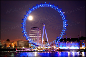 LondonEye by Night by IsidorArts
