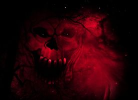 Bloody Halloween background by Seraerith-stock