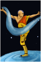 Aang Waterbending by MadnessInMeadow