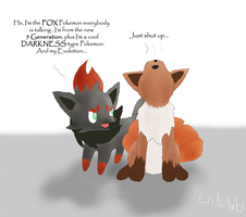 Zorua vs Vulpix by LiitTutubi