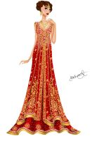 Asian inspired wedding gown 2 by Shehnoor2412