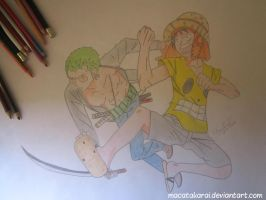 Zoro and Luffy (not finished) by Macatakarai
