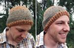 Striped Handknit Beanie by kateknitsalot