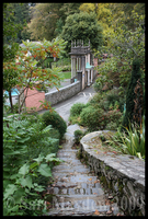 Portmeirion: Chantry steps by kittywinter