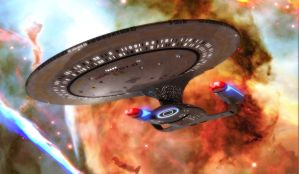 Enterprise from Bottom redux by okan1701