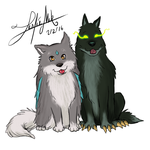 Lucky and Fenrir by girldirtbiker