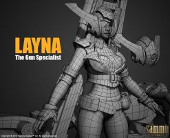 Layna Model, Work in progress by cg-sammu