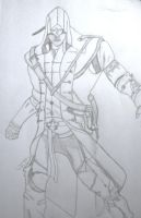 Connor Assassins Creed free hand sketch by LudosAquila