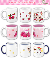 Kawaii mugs by BunnyAndI