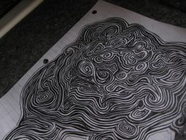 B and W Psychedelic pattern by CyanideAndCake