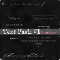 my first text pack zip by NabStew
