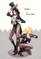 DC_Zatanna n BlackCanary by FLAFLY