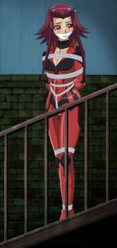 The Damsel on the red suit by songokussjsannin8000