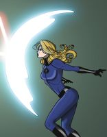 Invisible Woman At Work by Cindrollic
