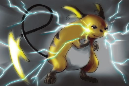 Raichu by Inenarrable