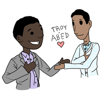 Troy and Abed by periru3