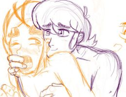Lewis and Arthur yaoi sketch  ( mystery skulls) by SonicMiku