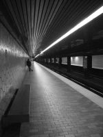 Waiting on the Train by xoth3rm1k