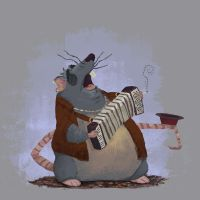 Rat accordionist by MathiasZamecki