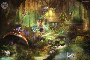 princes shakira with little fairy by kaka-pararean83