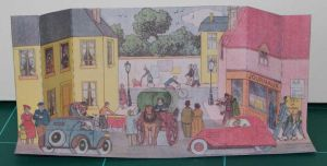 Une rue a Chatonville - French Vintage Papercraft by SarienSpiderDroid