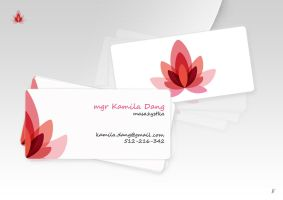 Kamila Dang - business card by ToomyPix