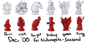 Nutrinopets Winter Chess Set by Wela-Inomae