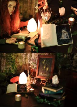 My celtic painting studio by Gwillieth