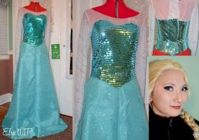Frozen: Elsa cosplay WIP by Stealthos-Aurion