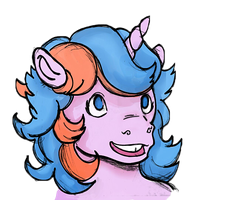 Retro Ponies: Buttons in Sai by dbkit