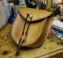 Simple leather belt pouch by Durnstaros