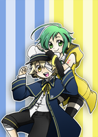 Sonika and Oliver by Kjbionicle