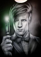 Matt Smith - Dr. Who T-Shirt by Jackolyn