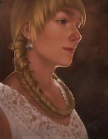 The girl with the braid by shideh