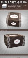 Retro and Vintage Gift Box Package Template by idesignstudio