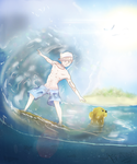 Adventure Time - Surfer Finn by EpicTaxi