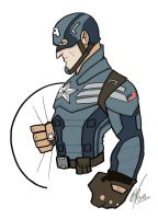 Winter soldier toon by Kryptoniano