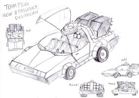 Team Flux New Delorean Rough Concept Design by BreakoutKid