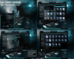 windows 7 theme ultra dark blue glass by tono3022