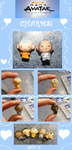 Chibi-Charms: Aang and Katara by MandyPandaa