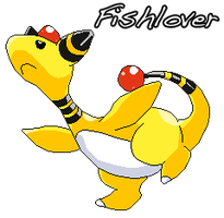 Ampharos Pixel by Fishlover
