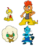 some pokemon by Nintendrawer
