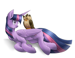 Twilight Sparkle with Owlicious by quila111