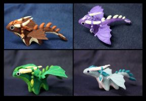 Plush dragons by hontor