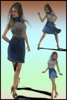 JeanOlogy 01 Chic Halter Dress by DiYanira