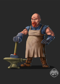 Blacksmith - Character design - Game design by air87art