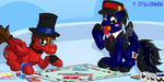 Art trade: Monopoly ponies by H-StallionWolf