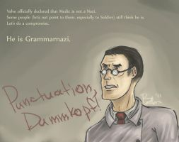 Punctuation, Dummkopf by BarbruBarbarian