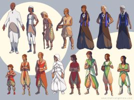 Firelight Isle Character Lineup by spoonbard